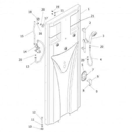 dusche komplettdusche fertigdusche b 80 x h 190 cm duschkabine schulte juist ebay. Black Bedroom Furniture Sets. Home Design Ideas