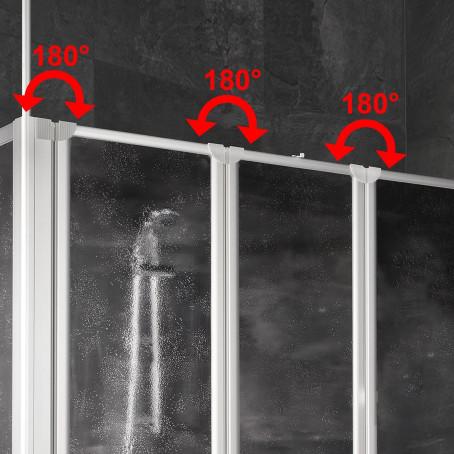 badewannenaufsatz badewannenfaltwand duschaufsatz inkl seitenwand schulte ebay. Black Bedroom Furniture Sets. Home Design Ideas