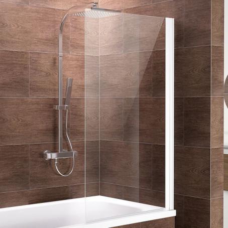 schulte faltwand 1 teilig ohne bohren alpinwei duschabtrennung ebay. Black Bedroom Furniture Sets. Home Design Ideas