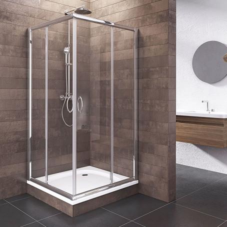 duschabtrennung schiebet r esg glas eckdusche dusche. Black Bedroom Furniture Sets. Home Design Ideas