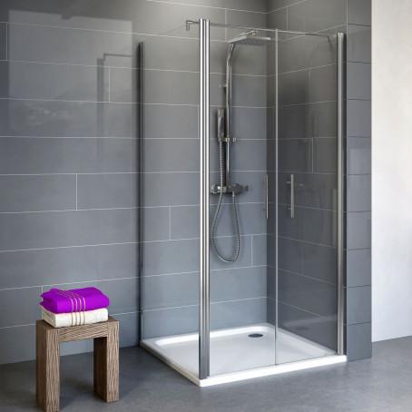 duschkabine eckdusche pendelt r seitenwand duscht r dusche echtglas rahmenlos ebay. Black Bedroom Furniture Sets. Home Design Ideas